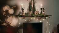 Decorated chimney on christmas video