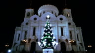 Decorated Christmas Tree in Moscow video