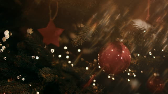 Decorated christmas tree video