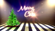 Decorated Christmas Tree with Text (Blue) - Background Loop video