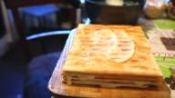 decorated food preparation chiffon sweet layer cake lifestyle video