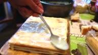 decorated preparation chiffon sweet layer cake lifestyle video