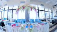 Decorated Table With Arch For Newlyweds video