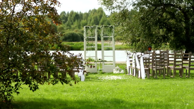 decorated wedding arch rustic style video