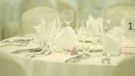 Decorated Wedding table - Stock Footage video