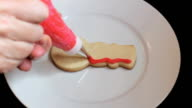 Decorating Snowman Shaped Christmas Cookie video