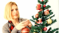 Decorating the Christmas tree video