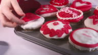 HD: Decorating Valentine's Pastries video