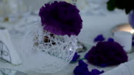 Decoration on Bridal Table Wedding Theme video