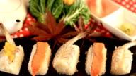 Decoration Sushi. video