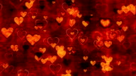 Decorative background with hearts loop video