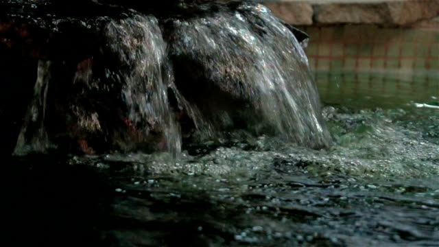 decorative waterfall with stones video