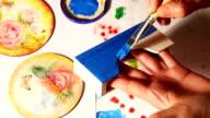 Decoupage painting timelapse process video