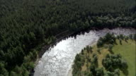 Dee Valley And River Near Balmoral  - Aerial View - Scotland, Aberdeenshire, United Kingdom video