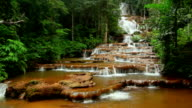 Deep Forest beautiful waterfall at Pha Charoen video