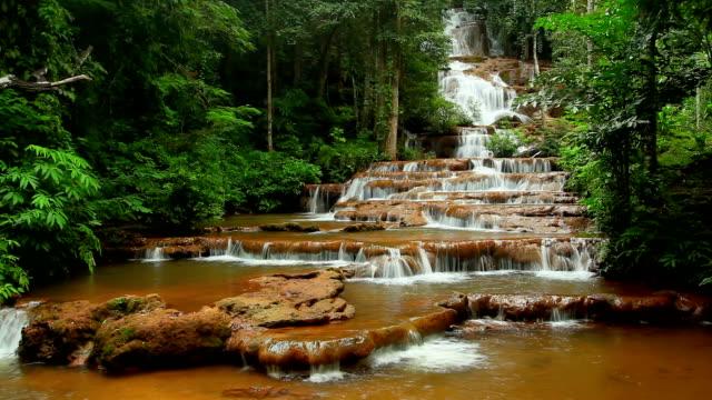 Deep Forest beautiful waterfall at Pha Charoen video