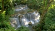 Deep forest Waterfall in Kanchanaburi, Thailand video