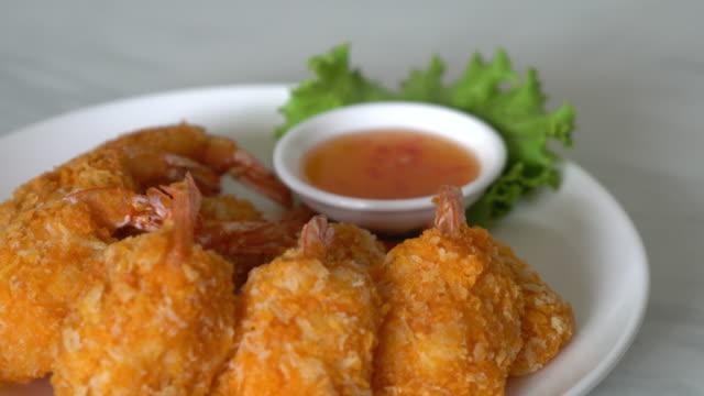 deep fried shrimp video