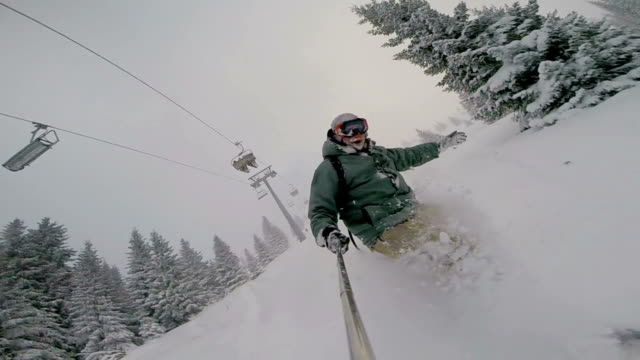 Deep Moody Powder Snowboarding video