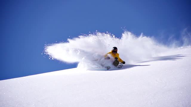 Deep snow skiing video