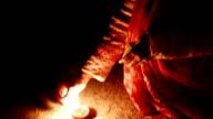 Deepak oil lamp. Deepavali video