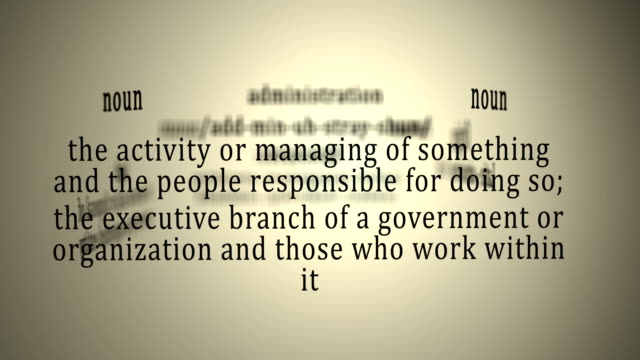 Definition: Administration video