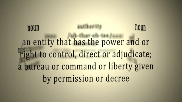 Definition: Authority video