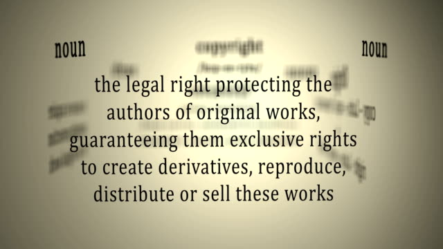 Definition: Copyright video