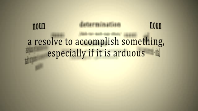 Definition: Determination video