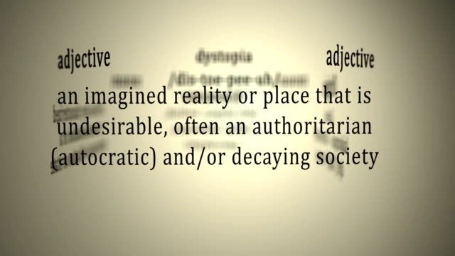 Definition: Dystopia video