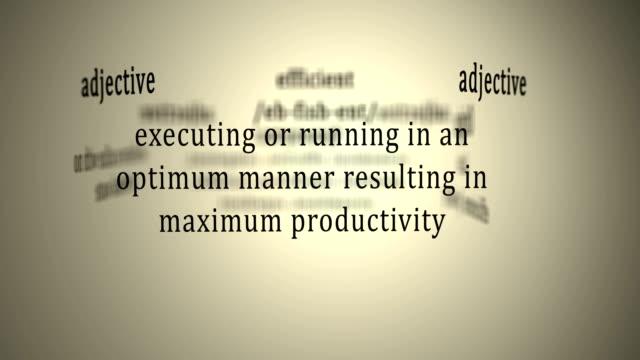 Definition: Efficient video