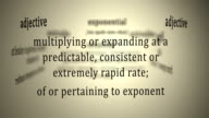 Definition: Exponential video