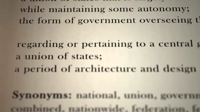 Definition Federal video