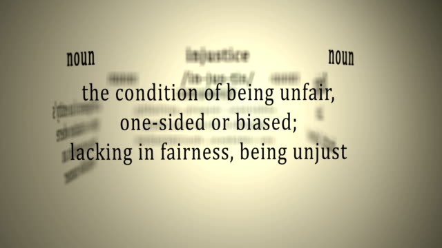 Definition: Injustice video