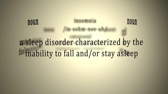Definition: Insomnia video