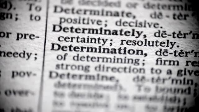 Definition of Determination video