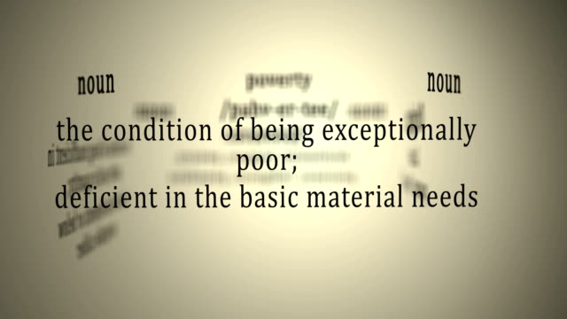Definition: Poverty video