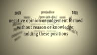 Definition: Prejudice video