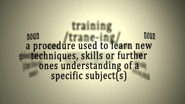 Definition: Training video