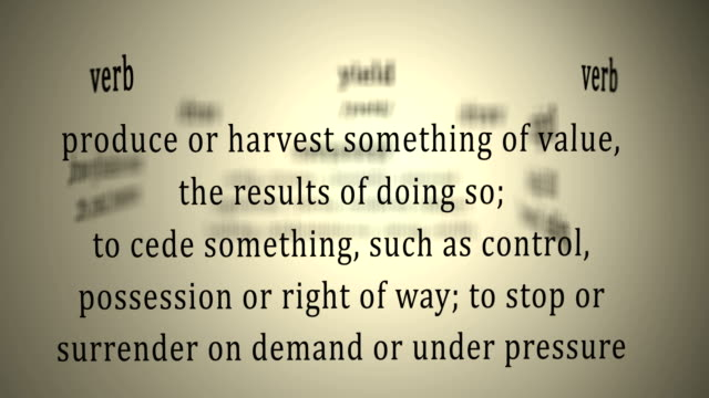 Definition: Yield video