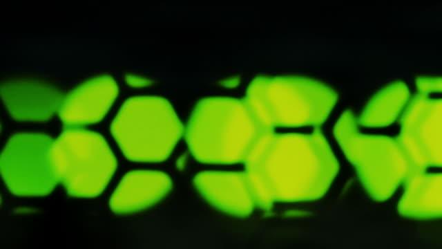Defocus green lights on network server video