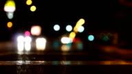 defocus of steet lights video