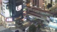 Defocus Shibuya tokyo at night video