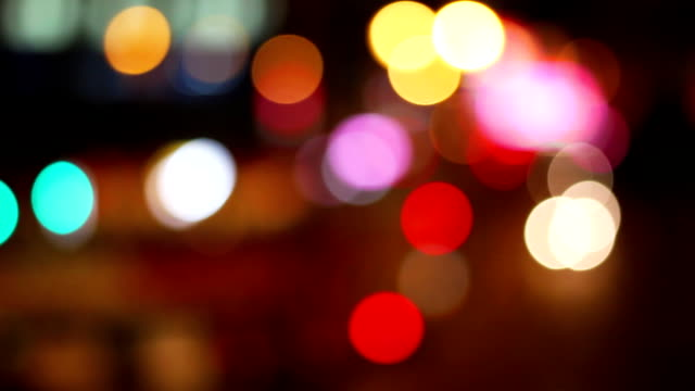 Defocus traffic timelapse video