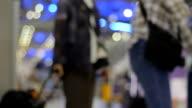 Defocused Airport Travelers. video