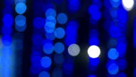 Defocused and blur image of blue led lights video