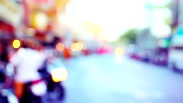 defocused asian city in morning video