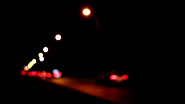 defocused car lights (loop) video