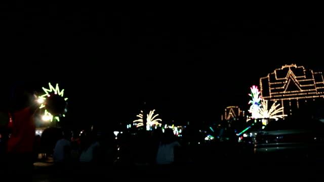 Defocused carnival lights video