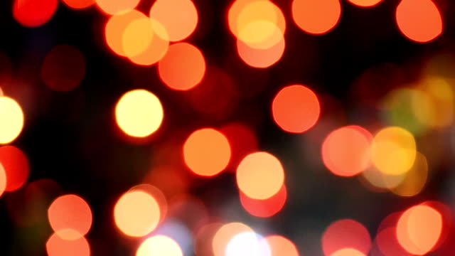 Defocused Christmas Red Light video